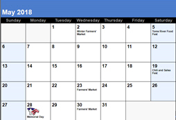 Toms River Events Calendar - Small