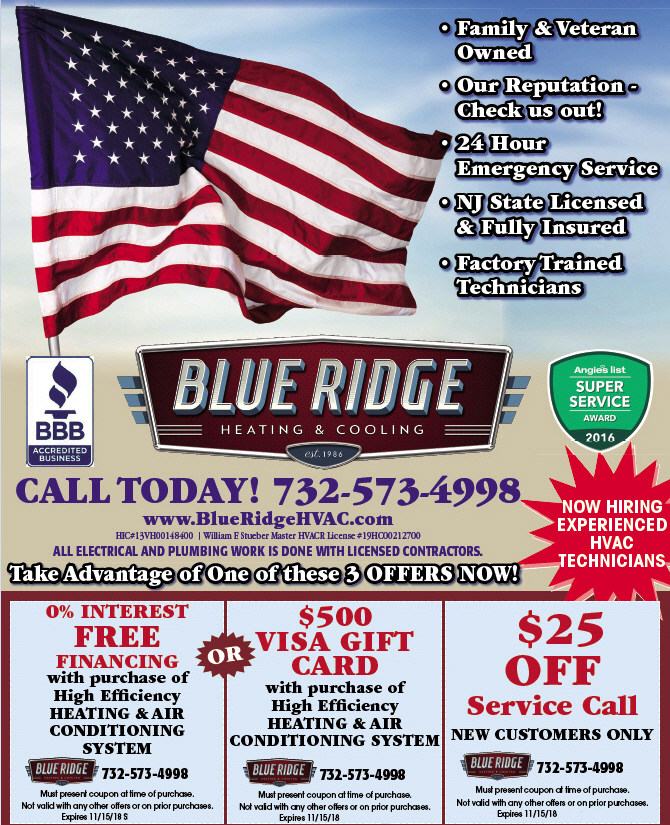 Blue Ridge Heating and Cooling Coupon